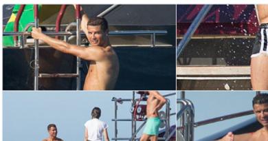 Cristiano Ronaldo viert vakantie op Ibiza