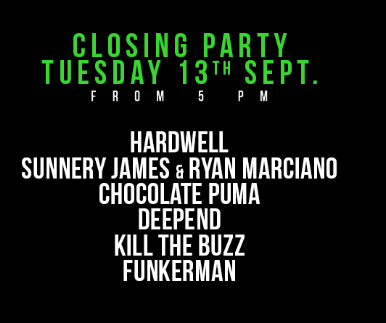 Hardwell DNA Closing Party lineup