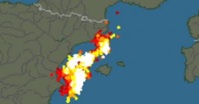 De storm op Ibiza