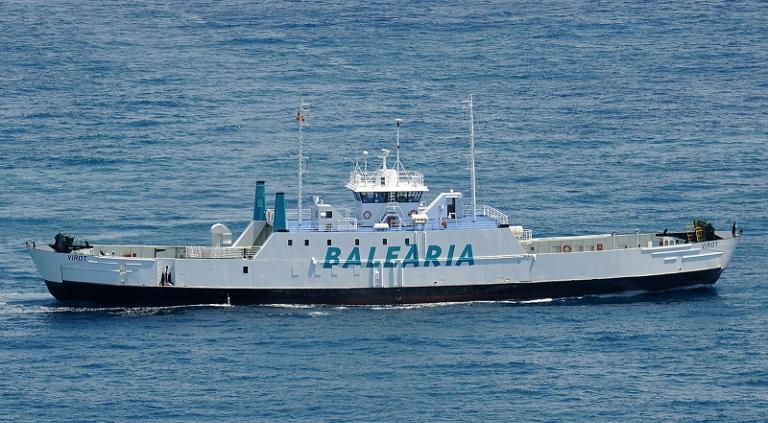 Motorproblemen vrachtschip Balearia hersteld
