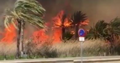 Zeer grote brand op Ibiza