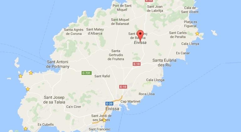 Ibiza Kaart Bekijk De Landkaart Van Ibiza Ibizaxxl Com
