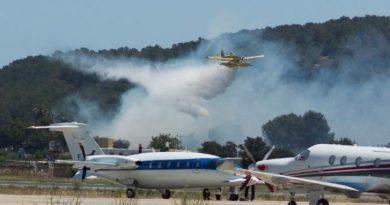 Brandhaarden bij vliegveld Ibiza en Ses Salines