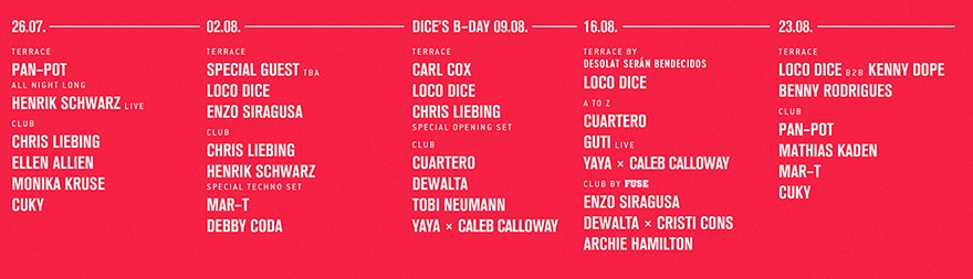 HYTE Ibiza 2017 lineup